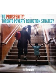 TO Prosperity: Toronto Poverty Reduction Strategy