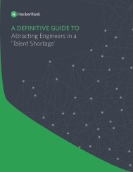 A DEFINITIVE GUIDE TO Attracting Engineers in a 'Talent Shortage'