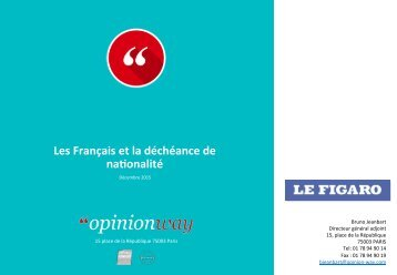 Les Français et la déchéance de na1onalité