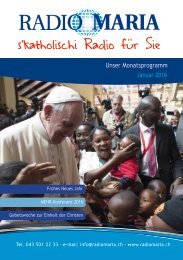 Radio Maria Schweiz - Januar 2016