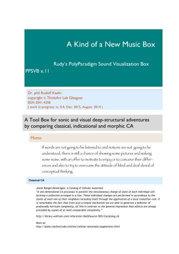 A Kind of a New Music Box