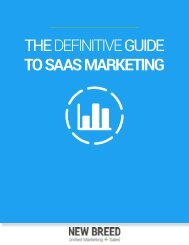 THE DEFINITIVE GUIDE TO SAAS MARKETING