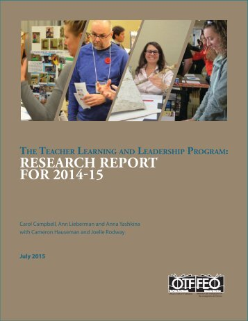 Research Report for 2014-15