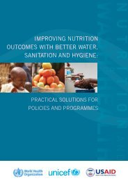 IMPROVING NUTRITION OUTCOMES WITH BETTER WATER SANITATION AND HYGIENE