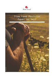 Slow Food Position Paper on Soil