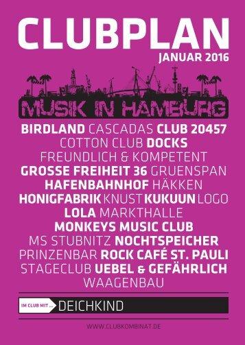 Clubplan Hamburg - Januar 2016