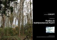 gebiedsvisie Poelbos en Poel V, voorstel voor een duurzaam werklandschap en stedelijk uitloopgebied