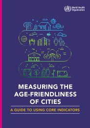 MEASURING THE AGE-FRIENDLINESS OF CITIES