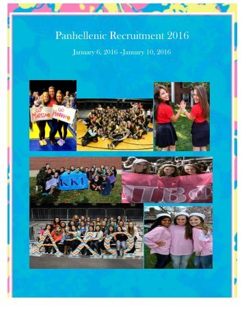 Panhellenic Recruitment 2016