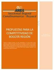PROPUESTAS PARA LA COMPETITIVIDAD DE BOGOTÁ REGIÓN