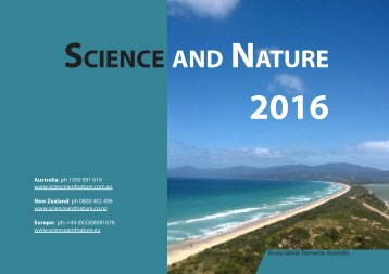 2016 Science and Nature Catalogue