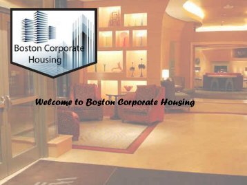 Get Well Furnished Apartments in Boston with the help of Boston Corporate Housing