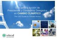 Guía para la Acción de Presidentes y Consejeros Delegados en CAMBIO CLIMÁTICO