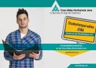 STUDIENMÖGLICHKEITEN an der Ernst-Abbe-Hochschule Jena