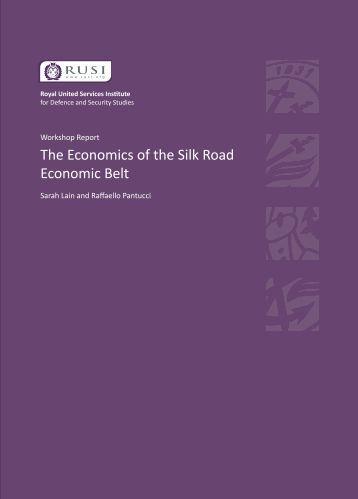 The Economics of the Silk Road Economic Belt