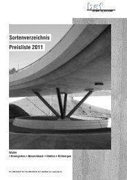 Sortenverzeichnis Preisliste 2011