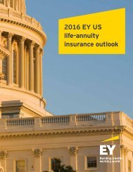 2016 EY US life-annuity insurance outlook