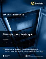 The Apple threat landscape