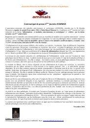 Communiqué de presse  4ème journée de l'auto-immunité 2014 L'inflammation et les maladies auto-systémiques AMMAIS