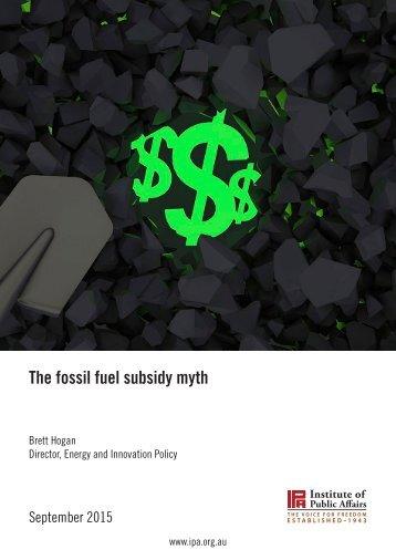 The fossil fuel subsidy myth