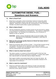 FUEL NEWS AUTOMOTIVE DIESEL FUEL - Questions  and ... - BP