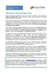 """""""ABC"""" DELLA LEGGE DI STABILITÀ 2016"""