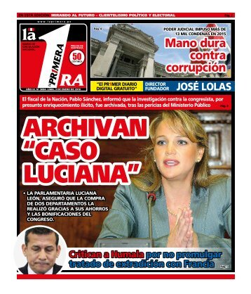 "ARCHIVAN ""CASO LUCIANA"""