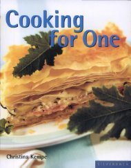Christina Kempe Cooking for One (Quick & Easy (Silverback))  2006