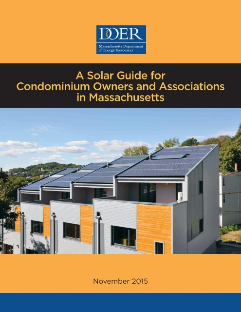 A Solar Guide for Condominium Owners and Associations in Massachusetts