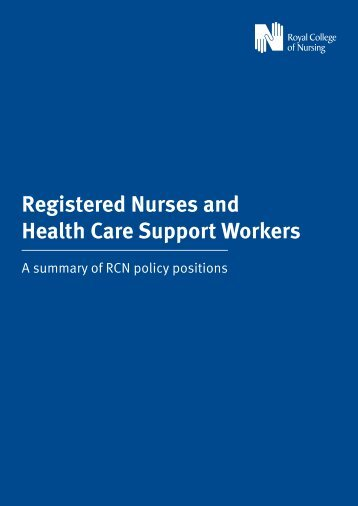 Registered Nurses and Health Care Support Workers