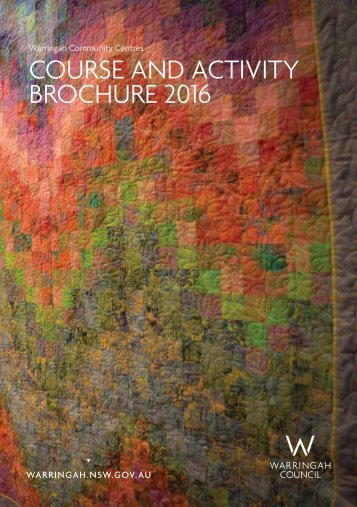 COURSE AND ACTIVITY BROCHURE 2016
