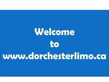 Limousine Service in Kitchener at Dorchester Limo