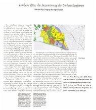 Leidsche Rijn - Staging the unpredictable, TOPOS june 19 1997