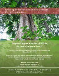 Report - Master's Program in Environmental Science and Policy ...