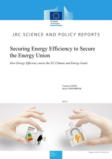 Securing Energy Efficiency to Secure the Energy Union