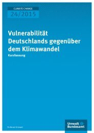 24/2015 Vulnerabilität Deutschlands gegenüber dem Klimawandel