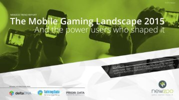 The Mobile Gaming Landscape 2015