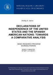 STATES AND THE SPANISH AMERICAN NATIONS TOWARDS A COMPARATIVE ANALYSIS