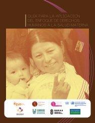 Guía para la aplicación del enfoque de derechos humanos a la salud materna