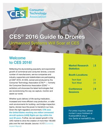 CES 2016 Guide to Drones