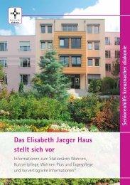Das Elisabeth Jaeger Haus stellt sich vor - Kreuznacher Diakonie
