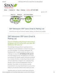 Purchase Customized List of SAP Netweaver ERP User List from Span Global Services