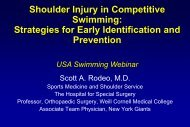 USA Swimming webinar_Shoulder in Swimming