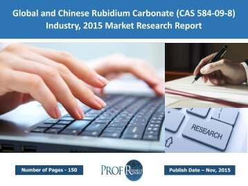 Rubidium Carbonate Industry, 2015 Market Research Report