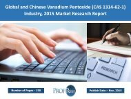 Vanadium Pentoxide Industry, 2015 Market Research Report