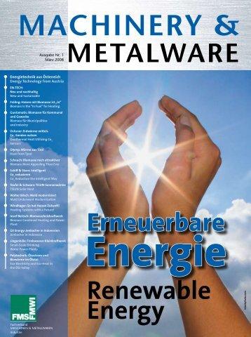 machinery & metalware - Dachverband Energie Klima