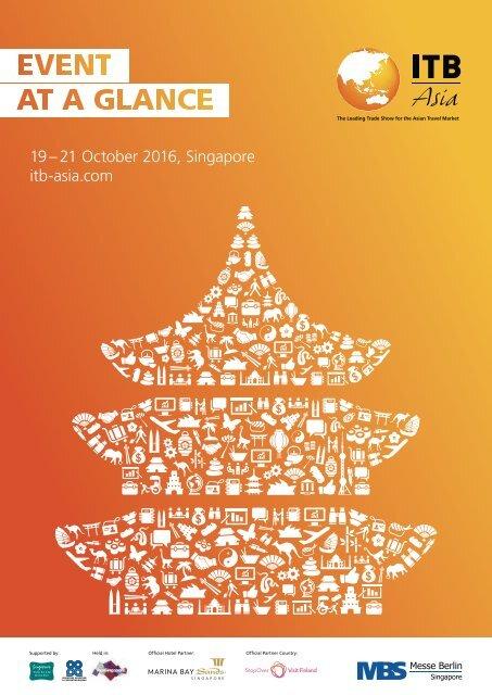 19 – 21 October 2016 Singapore itb-asia.com