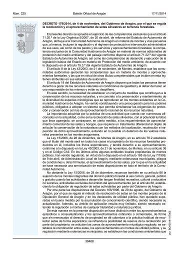 Ley Argonesa de Setas