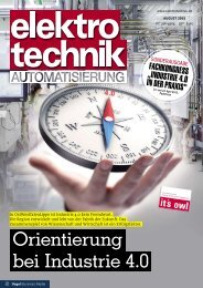 Orientierung bei Industrie 4.0 - Sonderbeilage elektrotechnik (2015)