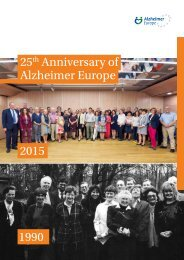 25 Anniversary of Alzheimer Europe 2015 1990